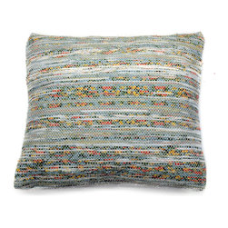 re:loom - re:loom Handwoven Medium Pillow, Yellow/Red/Blue/Green - *PRODUCT DESCRIPTION