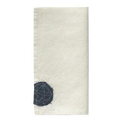 Sunbrella Performance Art's 100% Linen Napkins - Spiral Patch