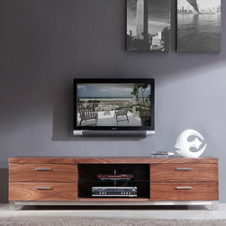 "B-Modern - Promoter Series 79"" TV Stand in Light Walnut - BM-120-BRN - Contemporary design"