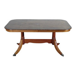 Vintage Yew Tilt Top 5Ft Dining Table - Yew finish
