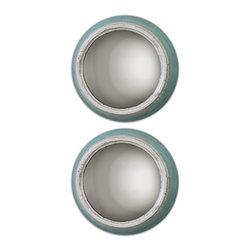 Uttermost - Fanchon Round Mirrors Set of 2 - Fanchon Round Mirrors Set of 2
