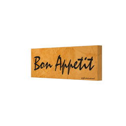 Bon Appetit Tuscan Orange Painting Gallery Wrapped Canvas - Corbin Henry