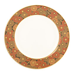 Lenox - Lenox Gilded Tapestry Butter Plate - Luscious flowers in warm,earthy colors spread over the rim of this Gilded Tapestry butter plate. Crafted of Lenox fine white bone china accented with gold,this butter plate is dishwasher safe.