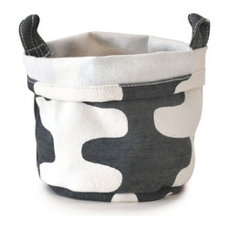 MAIKA - Recycled Canvas Bucket, Echo, Charcoal, Large - AS SEEN ON THE TODAY SHOW