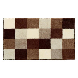 """Grund - Grund Premium Bathroom Comfort Mats-Bona Series, Brown, Small - Conservative, yet playful!  The Bona Series will keep you cool and calm at the same time as you begin your days for work or for play! Machine tufted.  Comes in two colors and is available in three sizes:  21"""" X 24"""" small, 24"""" X 36"""" medium, and 24"""" X 60"""" large."""