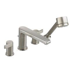 American Standard - Studio Roman Tub Faucet in Satin Nickel - American Standard 2590.901.295 Studio Roman Tub Faucet in Satin Nickel.