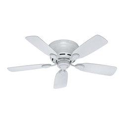 "Hunter - Hunter 42"" Low Profile IV Ceiling Fan in White - Hunter 42"" Low Profile IV Model HU-51059 in White with Reversible White/Bleached Oak Finished Blades."