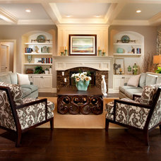 Traditional Living Room by Indiana Design Center