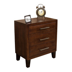Great Deal Furniture - Glendora Wood Three Drawer Dresser , Brown Mahogany - The Glendora Acacia Wood Dresser is the perfect accent piece for your bedroom or any room in your home. Made from acacia wood, this dresser can double as both a storage and design element. With three drawers, you'll have plenty of space to store away items. With its neutral color and contemporary style, this dresser will compliment almost any bedroom furniture.