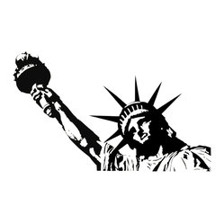 Statue of Liberty Vinyl Wall Decal - Some wall decals may come in multiple pieces due to the size of the design.