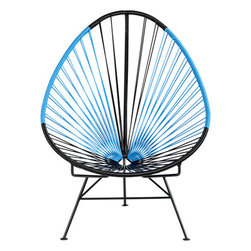Acapulco Black/Blue Lounge Chair - I'm afraid that if I sat in one of these, I'd never get up. But that might be a good thing.