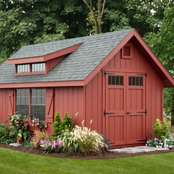 10x16 Victorian Aframe Storage Shed - 10x16 Victorian Aframe with Transom Dormer