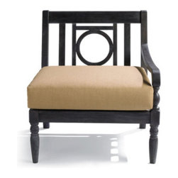 Grandin Road - Yorkshire Right-facing Armchair - Elegantly detailed modular outdoor sectional. Crafted from solid hardwoods. All-weather urethane finish. Components securely bolt together so they won't shift. Annual urethane application recommended to preserve the classic look. Create an open-air sanctuary in the garden or on the patio: the distinctive openwork design and smooth, slatted surfaces make each piece of our modular Yorkshire sectional a pleasure from every angle. With this versatile design, it's possible to update your outdoor space by changing the layout or cushion colors with each season. So go ahead: select your combination, finish color and cushions and get ready to relax and entertain with outdoor furniture that fits your style and budget, perfectly. . . . . . Simple assembly. Add an extra layer of comfort with our custom all-weather cushions (sold separately). All pieces coordinate perfectly with the Paxton Yorkshire Outdoor Collection. A Grandin Road exclusive.