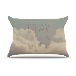 """Kess InHouse - Rachel Burbee """"Dream of Me"""" Tan White Pillow Case, King (36"""" x 20"""") - This pillowcase, is just as bunny soft as the Kess InHouse duvet. It's made of microfiber velvety fleece. This machine washable fleece pillow case is the perfect accent to any duvet. Be your Bed's Curator."""