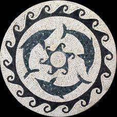 Mediterranean Wall And Floor Tile by NewZeugma Custom Luxury Mosaics and Iznik Tiles