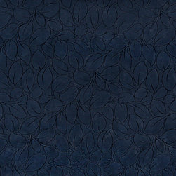 Navy Blue Leaves Microfiber Upholstery Fabric By The Yard - This microfiber upholstery fabrics is great for all residential, contract, hospitality and automotive purposes. Our microfiber fabrics are stain resistant, heavy duty and machine washable. This pattern is non-directional.