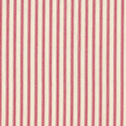 Standard Shams Pair Ticking Stripe Faded Rose