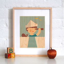 Petit Collage Sailor Boy - Print on Wood - Sailor Boy - Print on Wood
