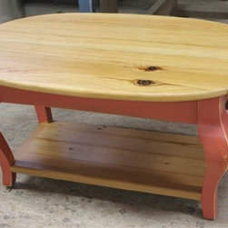 Oval Coffee Table From Reclaimed Pine - Made by http://www.ecustomfinishes.com