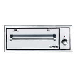 """Frontgate - Lynx 30-inch Warming Drawer - Stand-alone, built-in warming drawer. Temperature settings range from 90 to 220 degrees F to keep a variety of foods at desired temperatures. Equipped with two removable steam pans, lids, and steam racks. Select moist or crisp settings depending on the desired texture of your food. Weather-resistant stainless steel construction. When you're feeding a big crowd, it's helpful to have the Lynx 30"""" Warming Drawer. This stainless steel outdoor warming drawer guarantees that your food is hot when you are ready to eat.  . .  .  .  . Concealed heating element allows you to use the warming drawer as a towel or robe warmer ."""