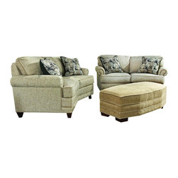 Chelsea Home Furniture - Chelsea Home 2-Piece Living Room Set in Nostalgia Beige Sand with Accent Pillows - Simply Yours 2-Piece living room set in Nostalgia Beige Sand with Accent Pillows belongs to the Chelsea Home Furniture collection