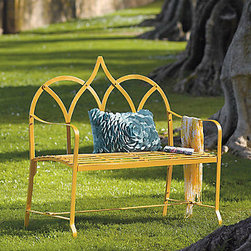 Royal Bench - I love the idea of having a seat in the garden. It is a beautiful place to sit, think and contemplate the beauty that is all around. I love the pretty color and shape of this bench.
