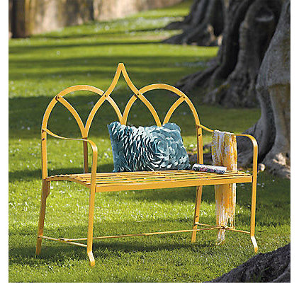 Eclectic Outdoor Benches by Grandin Road