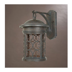 "Designers Fountain - Designers Fountain 31121-MP 1 Light 9"" Wall Lantern from the Dark Sky Barrington - Features:"
