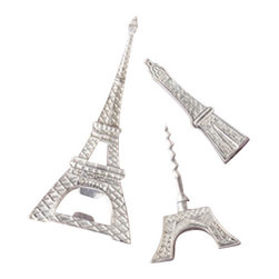 Zhush - Eiffel Tower Bottle Opener and Corkscrew Set - Why not add a little Parisian flair to your next get together? These fun bottle and wine openers make a great gift as well.