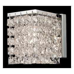 Z-Lite - Z-Lite 184-1S Waltz 1 Light Wall Sconce - A glimmering crystal shade defines this sophisticated one light wall sconce, and sparkles beautifully against polished chrome hardware. Specifications: