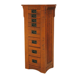 Wayborn - Wayborn Birchwood Jewelry Storage in Oak - Wayborn - Jewelry Armoires - 9041