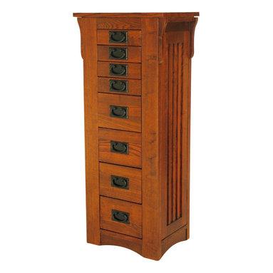 Wayborn - Wayborn Birchwood Jewelry Storage in Oak - Wayborn - Jewelry Armoires - 9041