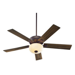 "Quorum Lighting - Quorum Lighting Rothman 52"" Transitional Ceiling Fan X-449-52537 - Traditional nuances have been blended with contemporary elements for an updated style to this Quorum Lighting ceiling fan. From the Rothman Collection, this five blade transitional ceiling fan features three speeds and a reversible motor, as well as a light kit and your choice of finish options."
