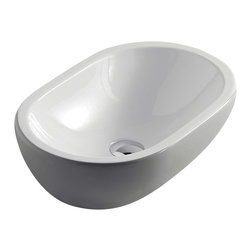 Maestrobath - Midas Ceramic Sink, White Pearl Grey - Give your bathroom an updated, stylish look with this oval ceramic ultra modern vessel sink. This luxury bathroom sink, Midas, is available in eleven different colors suitable for any powder room. This modern sink is easy to install and maintain. Maestrobath ceramic vessel sink line is ADA Compliant. Whether your decorating style is traditional or modern, Maestrobath products will compliment your home improvement project and add a lavish, luxurious feel while protecting your health, safety and the environment.