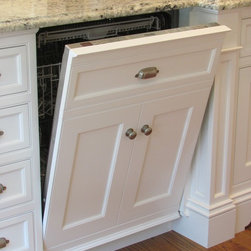 Dishwasher Panel - Fully Integrated Traditional Dishwasher Panel in Inset White Kitchen Cabinetry