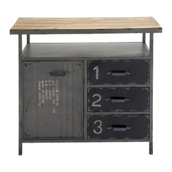 Unique and Stylish Multipurpose Metal Wood Utility Cabinet - Description: