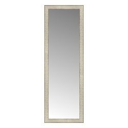 """Posters 2 Prints, LLC - 16"""" x 47"""" Libretto Antique Silver Custom Framed Mirror - 16"""" x 47"""" Custom Framed Mirror made by Posters 2 Prints. Standard glass with unrivaled selection of crafted mirror frames.  Protected with category II safety backing to keep glass fragments together should the mirror be accidentally broken.  Safe arrival guaranteed.  Made in the United States of America"""