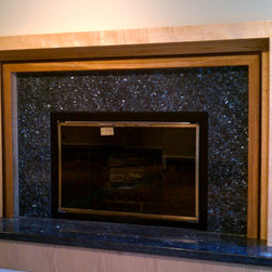 """Fireplace Mantels """"Raama"""" Design series - Curly Maple and White Oak Mantel is custom size to fit in existing space. Constantine Fedorets"""