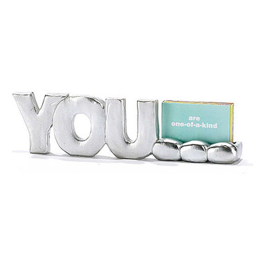 Jozie B - 'You' Table Thoughts Sign - This inspiring sign is a cheerful accent for the office desk or dining table. Its motivational message is a positive reminder of the important things in life, and its upbeat theme adds charm to décor.   5.62'' W x 1.57'' H x 0.79'' D Resin Imported