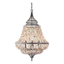 Feiss - Feiss F2808/6RI Maarid 6 Light Rustic Iron Chandelier - Finish: Rustic Iron