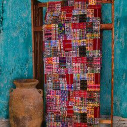 Handmade, Fair Trade Guatemalan Textiles - Fair Trade, Handmade Rose/Mixed Pastel Tones Guatemalan patchwork quilt. Fair Trade Quilts & Crafts