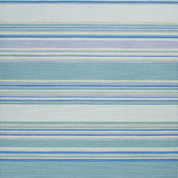 Jaipur Rugs - Flat Weave Stripe Pattern Blue Wool Handmade Rug - CC07, 10x14 - Fashion-forward color and a soft texture highlight the relaxed sophistication of the Coastal Living Dhurries Collection. Ideal for any casual lifestyle, the boldly striped, flat-woven pieces are easily cleaned - ideal for lounging after a day spent at the beach.