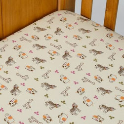 Cocalo - CoCaLo Jacana Fitted Sheet - This fitted crib sheet is designed to coordinate with the delightful safari theme of the Jacana crib bedding.