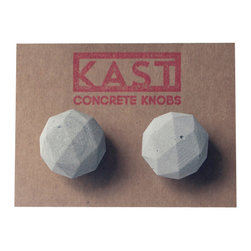 Kast Concrete Knobs - LUCY Concrete Cabinet Knob, Light Grey - - Concrete Knob Pair