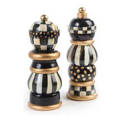 """Courtly Check Salt & Pepper Mill Set - 7"""" 