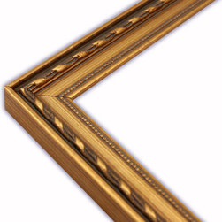 The Frame Guys - Elegant Gold with Beaded Lip Picture Frame-Solid Wood, 12x16 - *Elegant Gold with Beaded Lip Picture Frame-Solid Wood, 12x16