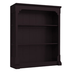 EuroLux Home - New Bookcase Walnut Painted Hardwood Open - Product Details