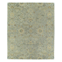 """Kaleen - Kaleen Helena Athena (Silver) 5' x 7'9"""" Rug - The Helena Collection was inspired by classic style and grace. Limitless splendor and loveliness these beautiful hand tufted rugs are produced from only the finest 100% premium virgin wool and are available in a selection of borderless designs. The collection offers an arrangement of refined color hues to meet all your decorating needs. Hand crafted in India."""