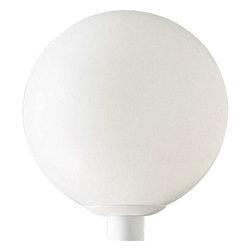 Progress Lighting - Progress Lighting P5436-60 Acrylic Globe 1 Light Outdoor Post Light In White - Progress Lighting P5436-60 Acrylic Globe 1 Light Outdoor Post Light In White