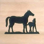 Door Mat:  Bamboo Sticks, Western - Cedar Wood Door Mat - Western